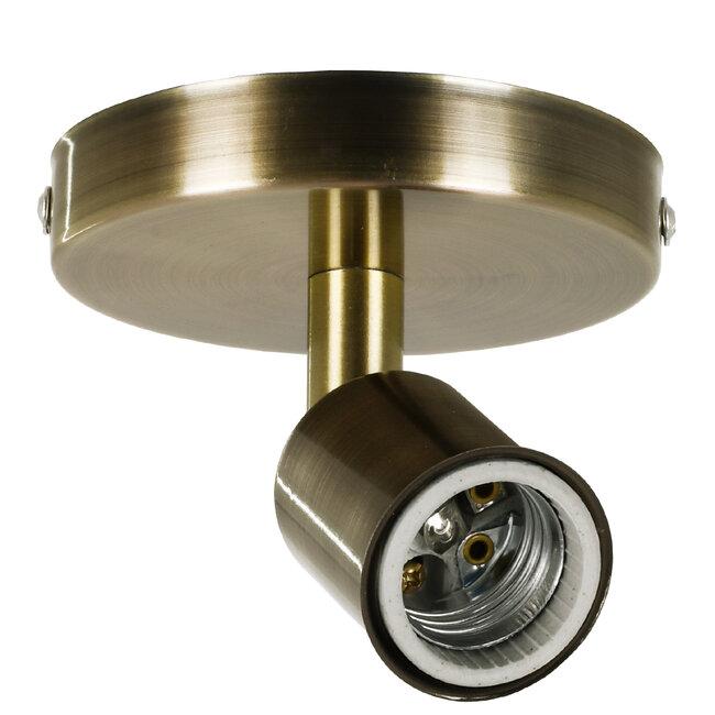 SARA 00847 Μοντέρνο Φωτιστικό Οροφής / Τοίχου Μονόφωτο 1xE27 Μεταλλικό Μπρούτζινο Φ10 x Υ10.3cm - 2