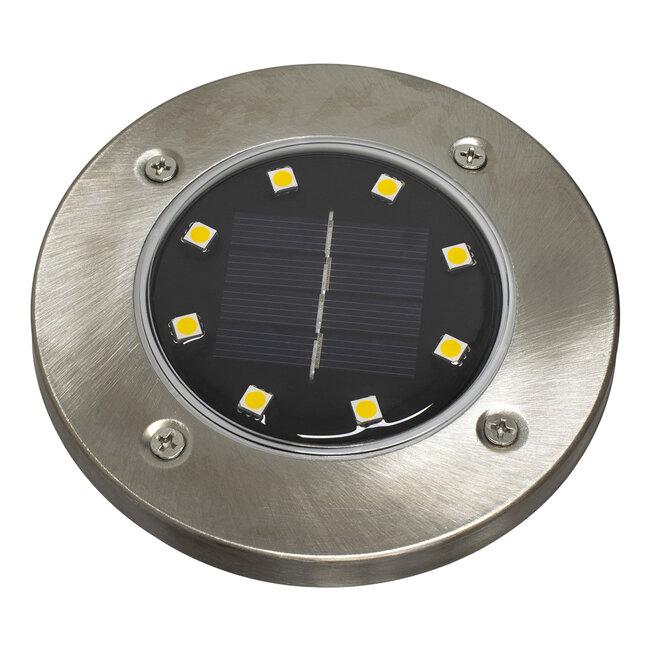 GloboStar® 71503 Αυτόνομο Ηλιακό Φωτιστικό Κήπου LED SMD 3W 170 lm με Ενσωματωμένη Μπαταρία 600mAh - Φωτοβολταϊκό Πάνελ με Αισθητήρα Ημέρας-Νύχτας IP65 Θερμό Λευκό 3000k - 3