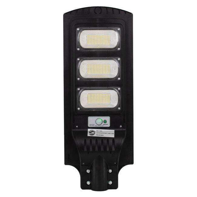 GloboStar® 71552 Αυτόνομο Ηλιακό Φωτιστικό Δρόμου Street Light All In One LED SMD 150W 12000lm με Ενσωματωμένη Μπαταρία Li-ion 9000mAh - Φωτοβολταϊκό Πάνελ με Αισθητήρα Ημέρας-Νύχτας PIR Αισθητήρα Κίνησης και Ασύρματο Χειριστήριο RF 2.4Ghz Αδιάβροχο - 3