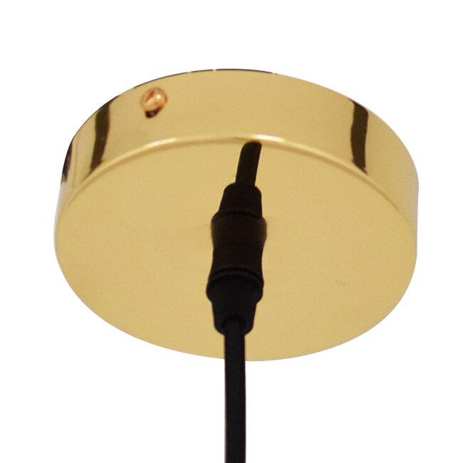Μοντέρνο Κρεμαστό Φωτιστικό Οροφής Μονόφωτο Γυάλινο Χρυσό Φ36  DIXXON GOLD 01466 - 6
