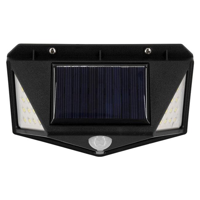 GloboStar® 71499 Αυτόνομο Ηλιακό Φωτιστικό LED SMD 10W 1000lm με Ενσωματωμένη Μπαταρία 1200mAh - Φωτοβολταϊκό Πάνελ με Αισθητήρα Ημέρας-Νύχτας και PIR Αισθητήρα Κίνησης IP65 Ψυχρό Λευκό 6000K - 9