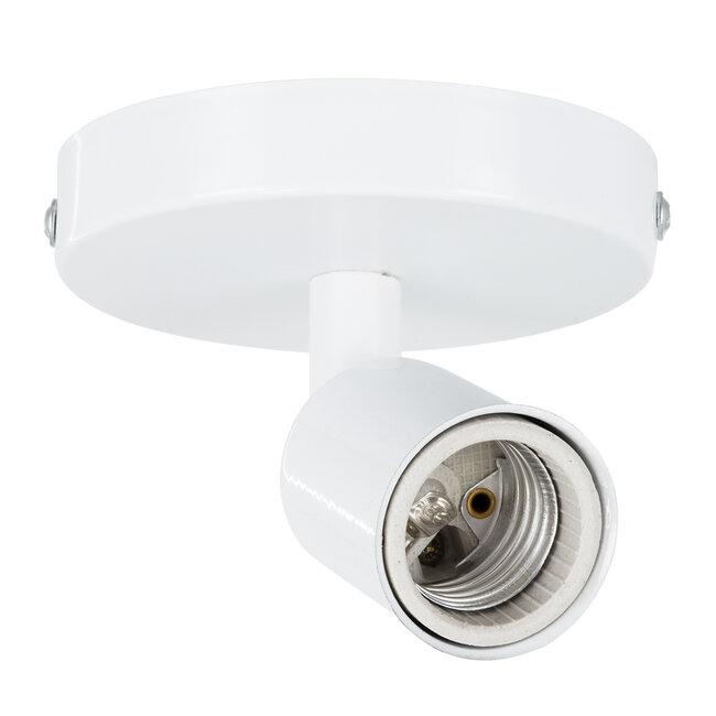 SARA 00842 Μοντέρνο Φωτιστικό Οροφής / Τοίχου Μονόφωτο 1xE27 Μεταλλικό Λευκό Φ10 x Υ10.3cm - 2