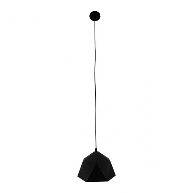 Μοντέρνο Κρεμαστό Φωτιστικό Οροφής Μονόφωτο Μαύρο Χρυσό Μεταλλικό Καμπάνα Φ25  SYLRA 01194 - 2