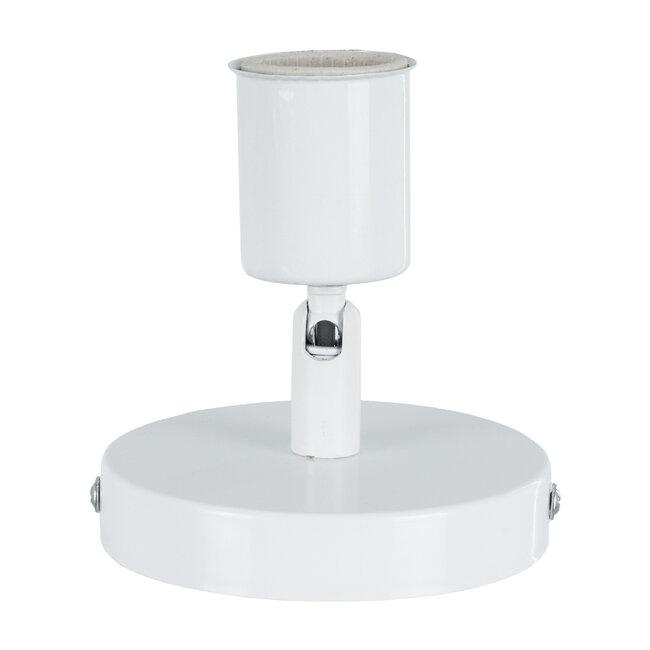SARA 00842 Μοντέρνο Φωτιστικό Οροφής / Τοίχου Μονόφωτο 1xE27 Μεταλλικό Λευκό Φ10 x Υ10.3cm - 4