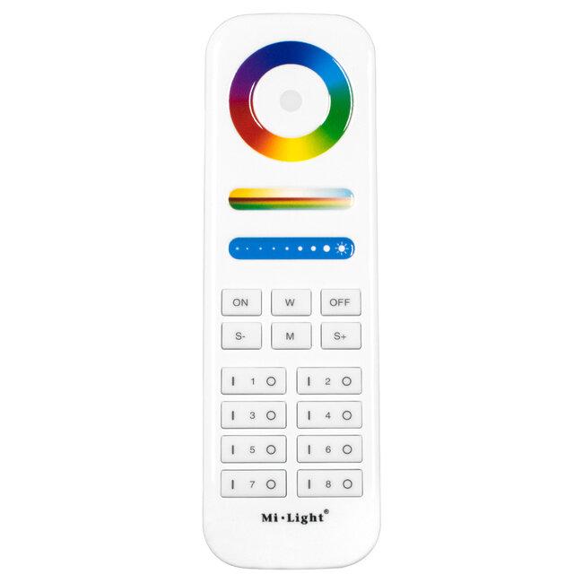 GloboStar® 73426 Ασύρματο Χειριστήριο Αφής έως 8 Group Wireless RF 2.4Ghz LED RGBW+WW Smart Touch Panel 8-Zone Mi-Light FUT089 433MHz RF 2.4G - 2