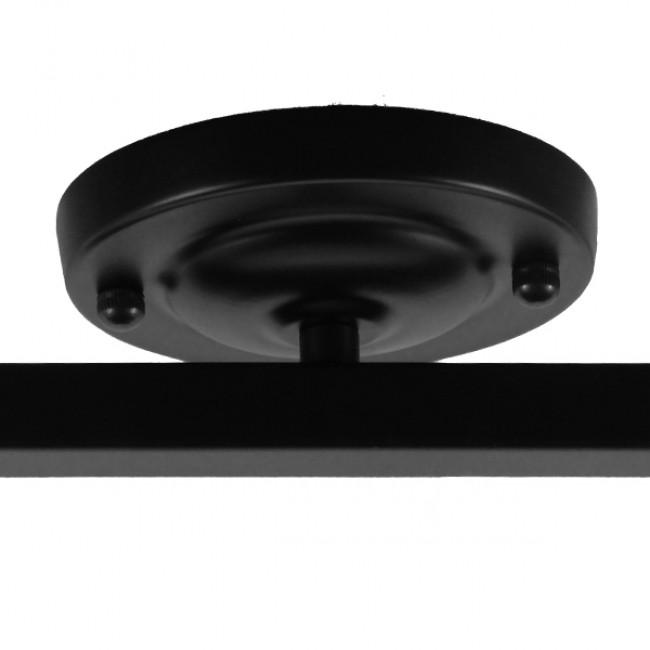 Μοντέρνο Φωτιστικό Οροφής Δίφωτο Μαύρο Μεταλλικό Ράγα  CANNES 01081 - 5