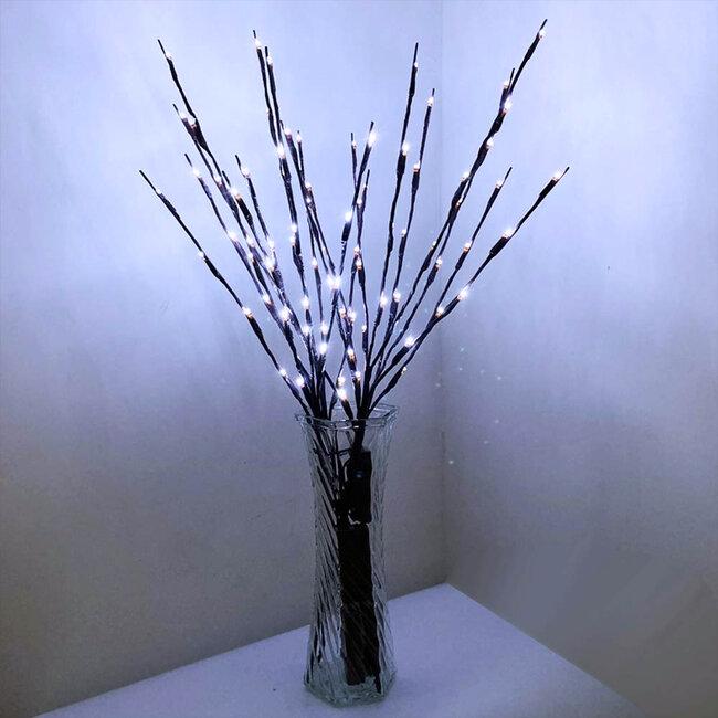 GloboStar® 79800 Διακοσμητικό Φωτιζόμενο Εύκαμπτο Κλαδί με 20 LED 3W 300 lm Μπαταρίας Ψυχρό Λευκό 6000k Φ62.5 x Υ70cm - 8
