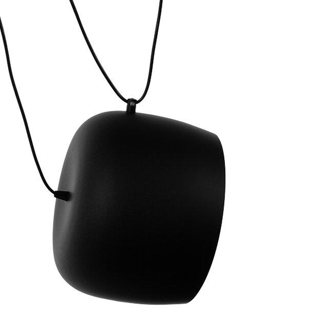 SET 3 Μοντέρνα Κρεμαστά Φωτιστικά Οροφής Μονόφωτα Μαύρα Λευκά Μεταλλικά Καμπάνα Φ25  LACRIMA 01375 - 3