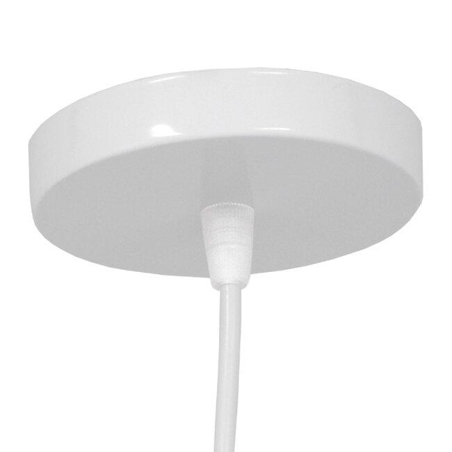 Μοντέρνο Κρεμαστό Φωτιστικό Οροφής Μονόφωτο Λευκό Μεταλλικό Φ20  LITTLE MAN WHITE 01651 - 6