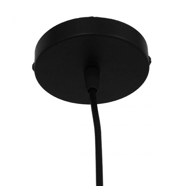 Μοντέρνο Κρεμαστό Φωτιστικό Οροφής Μονόφωτο Μαύρο Μεταλλικό Φ33 GloboStar OMICRON BLACK 01578 - 7