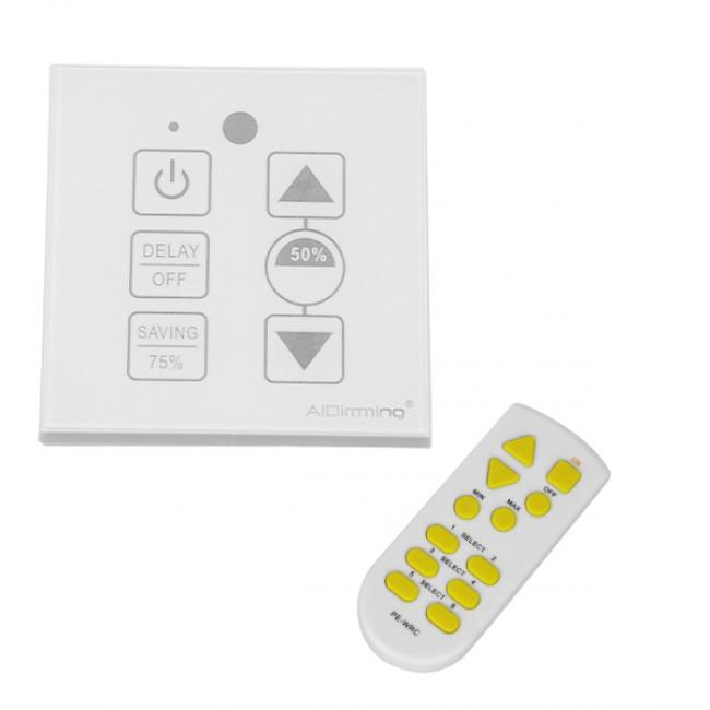 Dimmer Touch για LED 220 Volt 200 Watt Trailing Edge Ασύρματο Λευκό GloboStar 50044 - 1