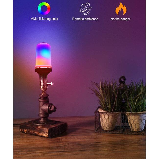 GloboStar® 76076 Λάμπα E27 TUBULAR Διακοσμητική LED 9W 450lm 320° AC 85-265V με 4 Λειτουργίες Εφέ RGB Φλόγας και Αναστροφή RGB Φλόγας - 6