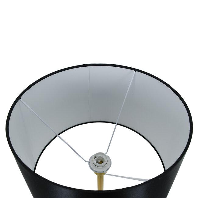 ASHLEY 00829 Μοντέρνο Φωτιστικό Δαπέδου Μονόφωτο Μεταλλικό Χρυσό με Μαύρο Καπέλο και Ξύλινη Λεπτομέρεια Φ40 x Υ148cm - 5