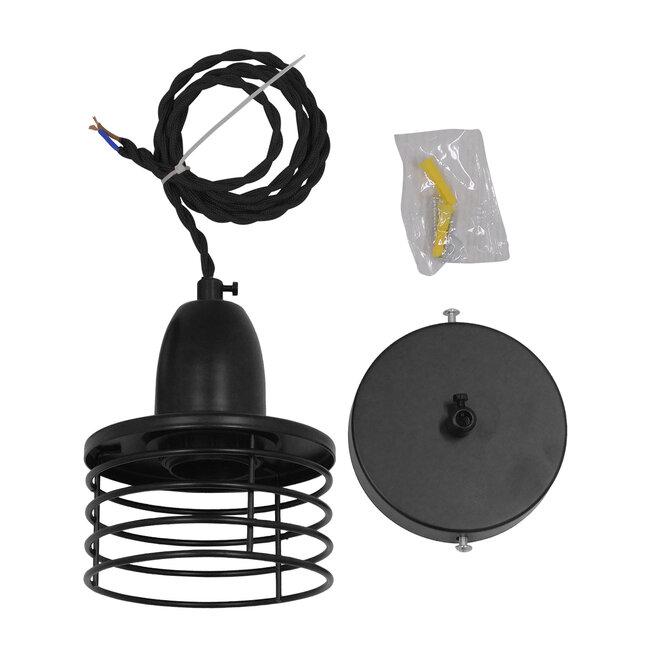 Μοντέρνο Industrial Κρεμαστό Φωτιστικό Οροφής Μονόφωτο Μεταλλικό Μαύρο Καμπάνα Φ11  MANHATTAN BLACK 01456 - 9