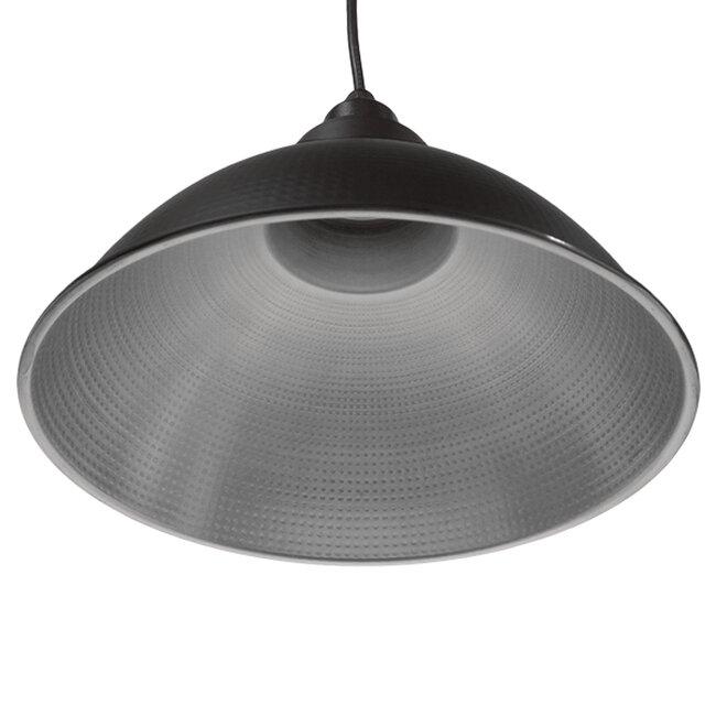 Vintage Industrial Κρεμαστό Φωτιστικό Οροφής Μονόφωτο Μαύρο Μεταλλικό Καμπάνα Φ39   LOUVE BLACK 01176 - 3