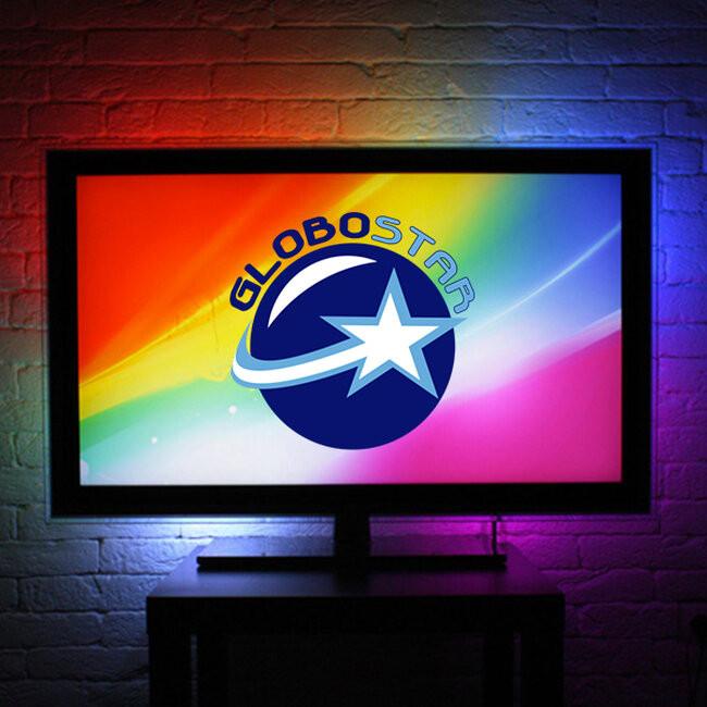 Πλήρες Κιτ Κρυφού Φωτισμού RGB με USB για Τηλεοράσεις και Τηλεχειριστήριο GloboStar 06006 - 7