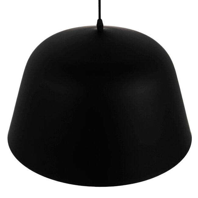 Μοντέρνο Κρεμαστό Φωτιστικό Οροφής Μονόφωτο Μαύρο Μεταλλικό Καμπάνα Φ40  EASTVALE 01281 - 6