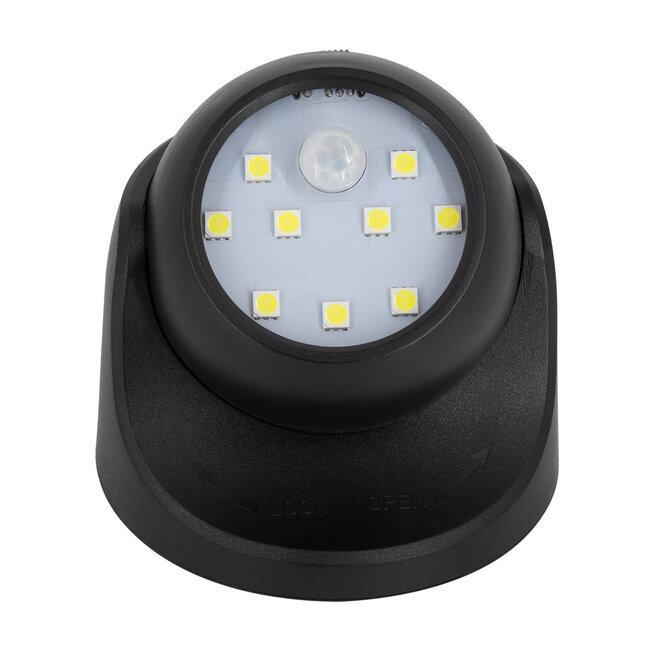 79001 Μαύρο Φωτιστικό Μπαταρίας σε Σχήμα Κάμερας LED SMD 3W 300lm με Αισθητήρα Ημέρας-Νύχτας και PIR Αισθητήρα Κίνησης Ψυχρό Λευκό 6000K - 4