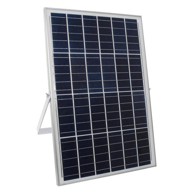 71562 Αυτόνομος Ηλιακός Προβολέας LED SMD 300W 36000lm με Ενσωματωμένη Μπαταρία 25500mAh - Φωτοβολταϊκό Πάνελ με Αισθητήρα Ημέρας-Νύχτας και Ασύρματο Χειριστήριο RF 2.4Ghz Αδιάβροχος IP66 Ψυχρό Λευκό 6000K - 7