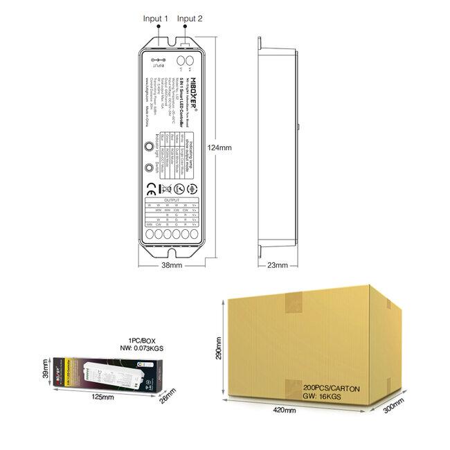 GloboStar® 73422 Ασύρματος RF 2.4Ghz LED RGBW + WW Smart Controller Mi-Light LS2 MiBOXER RF 2.4G DC 12-24V Max 360W - 18