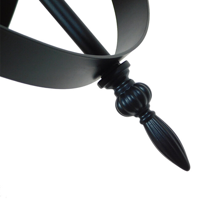 Vintage Industrial Κρεμαστό Φωτιστικό Οροφής Πολύφωτο Μαύρο Μεταλλικό Πολυέλαιος Φ65  ESTELLE 01003 - 10