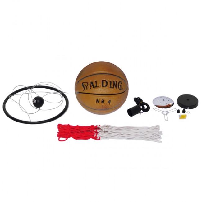 Μοντέρνο Κρεμαστό Φωτιστικό Οροφής Μονόφωτο Πορτοκαλί Μεταλλικό Πλέγμα Φ32 GloboStar NBA  01027 - 9