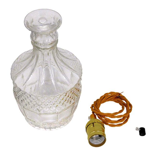 Vintage Κρεμαστό Φωτιστικό Οροφής Μονόφωτο Γυάλινο Διάφανο Φ13  WHISKEY 01513 - 7