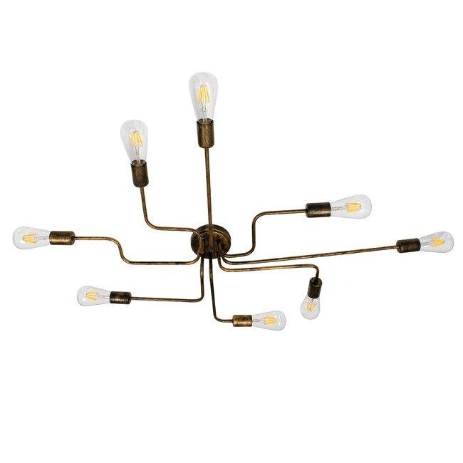 LIBERTA 00841 Μοντέρνο Φωτιστικό Οροφής Πολύφωτο Χάλκινο Σκουριά Μ102 x Π72 x Υ10.5cm - 4