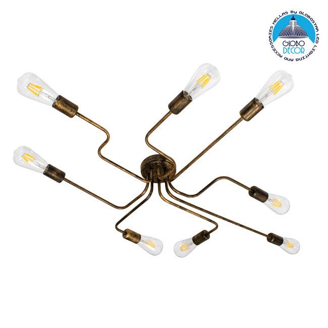 LIBERTA 00841 Μοντέρνο Φωτιστικό Οροφής Πολύφωτο Χάλκινο Σκουριά Μ102 x Π72 x Υ10.5cm - 1