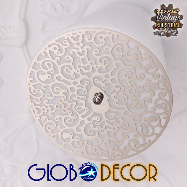 Μοντέρνο Κρεμαστό Φωτιστικό Οροφής Μονόφωτο Λευκό Γύψινο Καμπάνα Φ60  SERENIA WHITE 01271 - 4