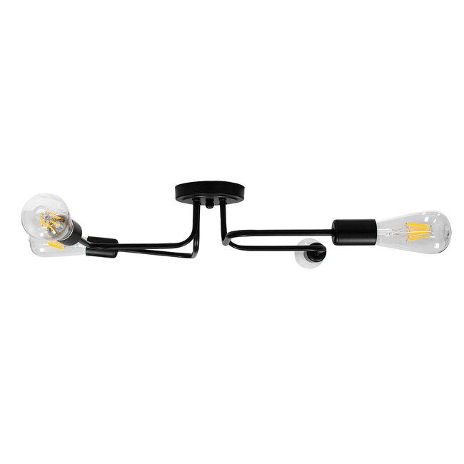 GloboStar® LIBERTA 00838 Μοντέρνο Φωτιστικό Οροφής Πολύφωτο Μαύρο Μεταλλικό Μ44.5 x Π44.5 x Υ12cm - 6