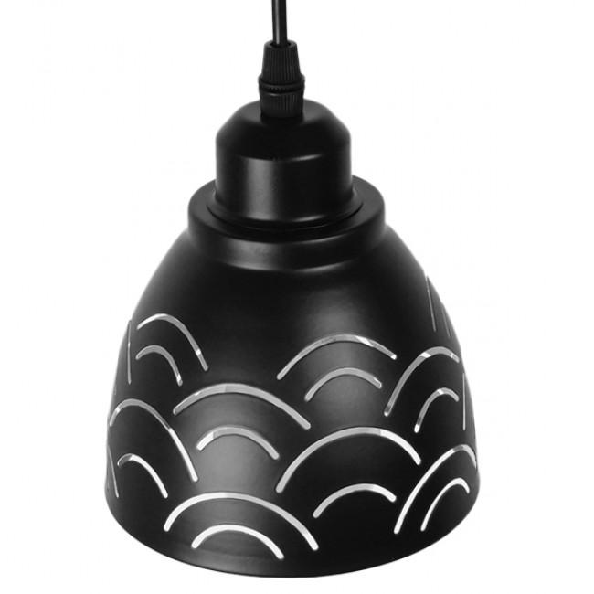 Μοντέρνο Κρεμαστό Φωτιστικό Οροφής Μονόφωτο Μεταλλικό Μαύρο Λευκό Καμπάνα Φ13 GloboStar CLOUD 01482 - 4