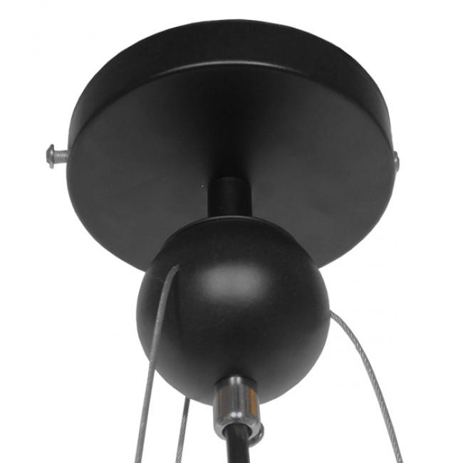 Μοντέρνο Κρεμαστό Φωτιστικό Οροφής Μονόφωτο Πορτοκαλί Μεταλλικό Πλέγμα Φ32 GloboStar NBA  01027 - 6