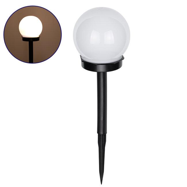 GloboStar® 71471 Αυτόνομο Ηλιακό Φωτιστικό LED SMD 1W 95lm με Ενσωματωμένη Μπαταρία 300mAh - Φωτοβολταϊκό Πάνελ με Αισθητήρα Ημέρας-Νύχτας Αδιάβροχο IP65 Φανάρι Κήπου Στρογγυλό Θερμό Λευκό 3000K - 2