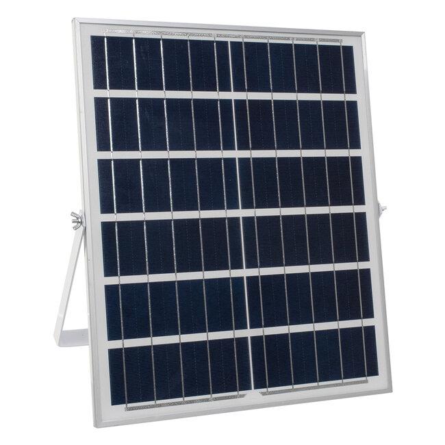 71560 Αυτόνομος Ηλιακός Προβολέας LED SMD 150W 18000lm με Ενσωματωμένη Μπαταρία 15000mAh - Φωτοβολταϊκό Πάνελ με Αισθητήρα Ημέρας-Νύχτας και Ασύρματο Χειριστήριο RF 2.4Ghz Αδιάβροχος IP66 Ψυχρό Λευκό 6000K - 7