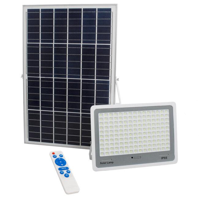 71562 Αυτόνομος Ηλιακός Προβολέας LED SMD 300W 36000lm με Ενσωματωμένη Μπαταρία 25500mAh - Φωτοβολταϊκό Πάνελ με Αισθητήρα Ημέρας-Νύχτας και Ασύρματο Χειριστήριο RF 2.4Ghz Αδιάβροχος IP66 Ψυχρό Λευκό 6000K - 2