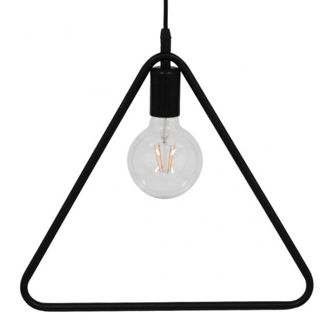 Μοντέρνο Κρεμαστό Φωτιστικό Οροφής Μονόφωτο Μαύρο Μεταλλικό GloboStar DELTA BLACK 01580 - 5