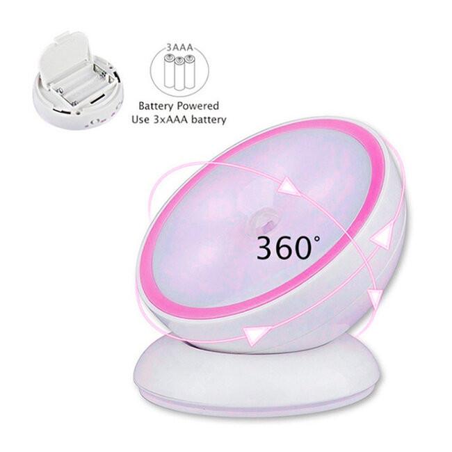 Επαναφορτιζόμενο Φωτιστικό Νυκτός Μπαταρίας LED με Ανιχνευτή Κίνησης και Αισθητήρα Μέρας Νύχτας Ροζ GloboStar 07041 - 3