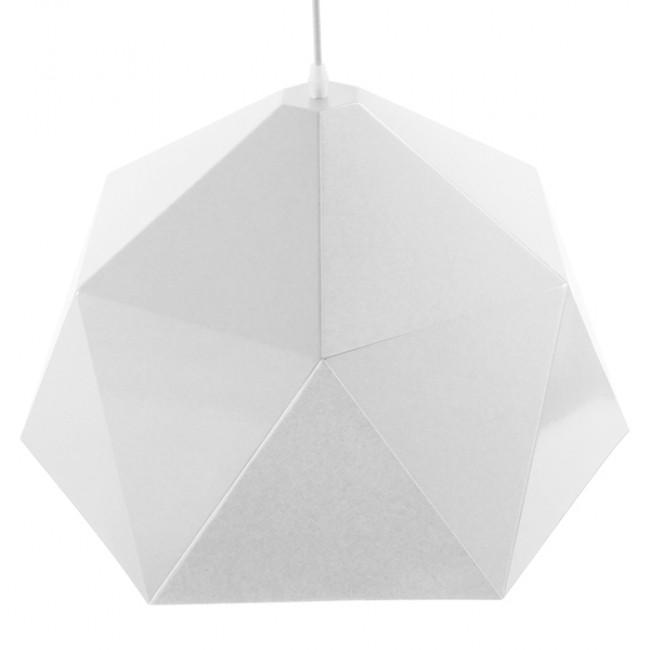 Μοντέρνο Κρεμαστό Φωτιστικό Οροφής Μονόφωτο Λευκό Χρυσό Μεταλλικό Καμπάνα Φ46 GloboStar CHILUM 01378 - 5