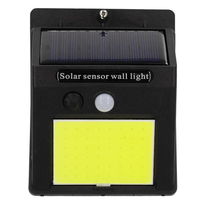 71496 Αυτόνομο Ηλιακό Φωτιστικό LED COB 12W 1200lm με Ενσωματωμένη Μπαταρία 1200mAh - Φωτοβολταϊκό Πάνελ με Αισθητήρα Ημέρας-Νύχτας και PIR Αισθητήρα Κίνησης IP65 Ψυχρό Λευκό 6000K - 6