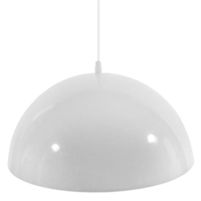 Μοντέρνο Κρεμαστό Φωτιστικό Οροφής Μονόφωτο Λευκό Χρυσό Μεταλλικό Καμπάνα Φ40  LUNE 01339 - 4