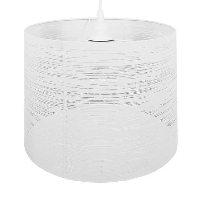 Μοντέρνο Industrial Κρεμαστό Φωτιστικό Οροφής Μονόφωτο Μεταλλικό Λευκό Καμπάνα Φ35  ACCADEMIA 01557 - 4