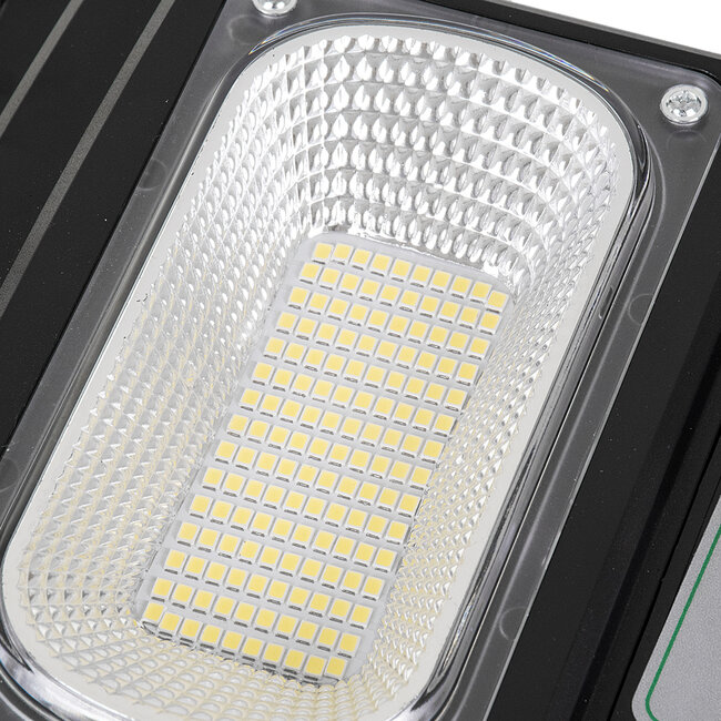 GloboStar® 71551 Αυτόνομο Ηλιακό Φωτιστικό Δρόμου Street Light All In One LED SMD 100W 8000lm με Ενσωματωμένη Μπαταρία Li-ion 5500mAh - Φωτοβολταϊκό Πάνελ με Αισθητήρα Ημέρας-Νύχτας PIR Αισθητήρα Κίνησης και Ασύρματο Χειριστήριο RF 2.4Ghz Αδιάβροχο I - 10
