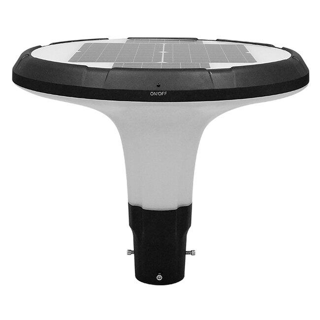 Αυτόνομο Αδιάβροχο IP65 Ηλιακό Φωτοβολταϊκό Φωτιστικό Στύλου / Κολώνας Πλατείας LED 25W με Ανιχνευτή Κίνησης και Αισθητήρα Νυχτός Θερμό Λευκό 3000k GloboStar 12151 - 3