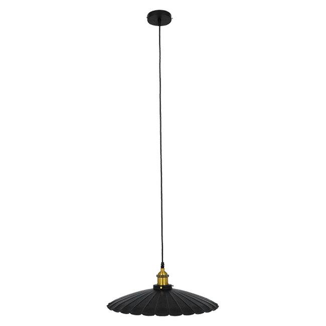 Vintage Industrial Κρεμαστό Φωτιστικό Οροφής Μονόφωτο Μαύρο Μεταλλικό Καμπάνα Ø40xY15cm GloboStar MARGI Ø40 00982 - 2