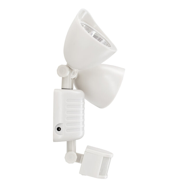 GloboStar® 71508 Αυτόνομο Ηλιακό Φωτιστικό LED SMD 10W 150lm με Ενσωματωμένη Μπαταρία 1200mAh - Φωτοβολταϊκό Πάνελ με Αισθητήρα Ημέρας-Νύχτας και PIR Αισθητήρα Κίνησης Αδιάβροχο IP54 Ψυχρό Λευκό 6000K - 6