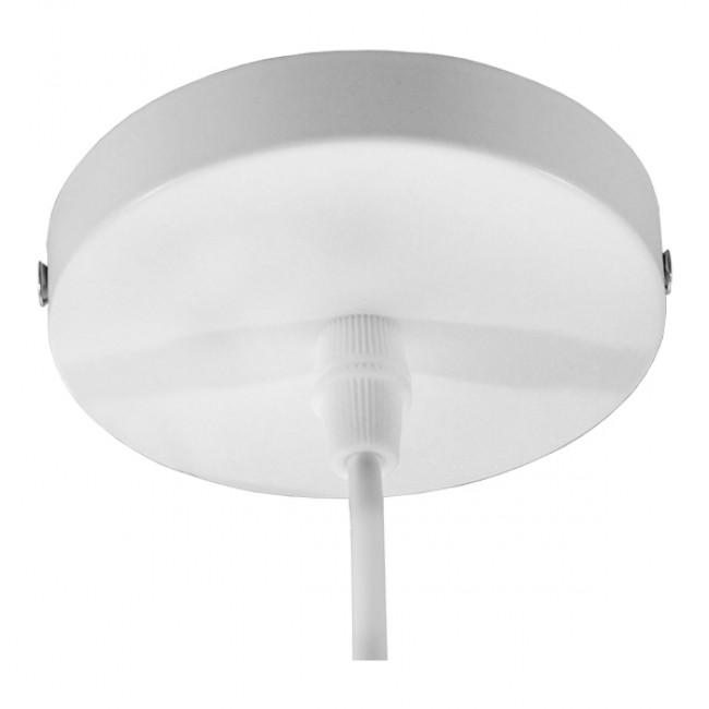 Μοντέρνο Κρεμαστό Φωτιστικό Οροφής Μονόφωτο Λευκό Χρυσό Μεταλλικό Καμπάνα Φ35 GloboStar OBERYN 00999 - 6