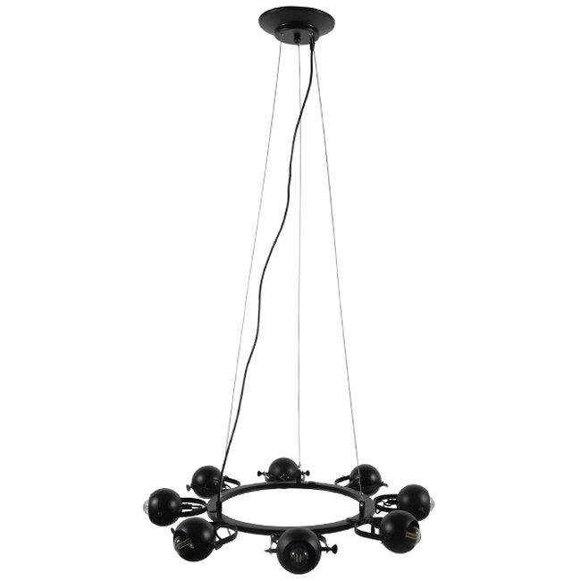 Μοντέρνο Industrial Κρεμαστό Φωτιστικό Οροφής Πολύφωτο Μαύρο Μεταλλικό Πολυέλαιος με Κινούμενα Σποτ Φ66  LINNYA 01219 - 2