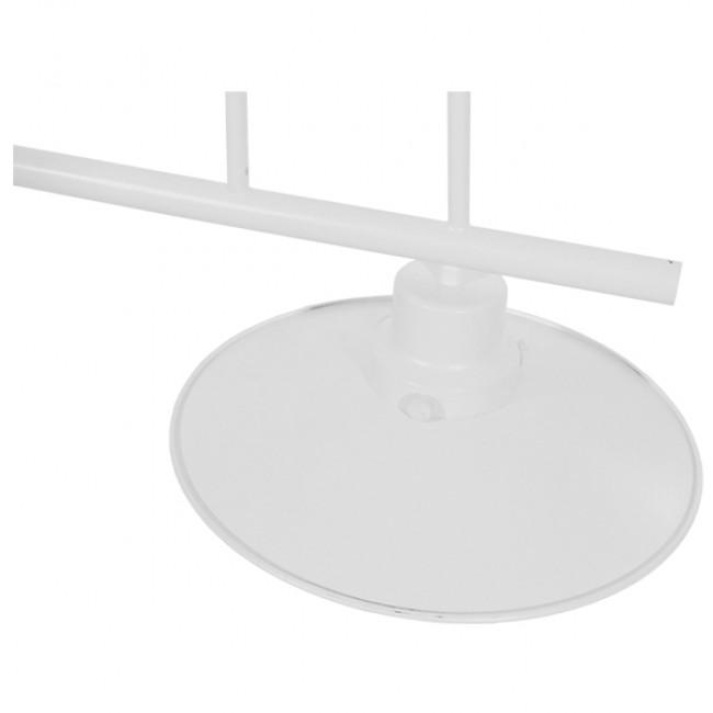 Vintage Industrial Φωτιστικό Οροφής Δίφωτο Λευκό Μεταλλικό Ράγα GloboStar BILLIARD WHITE 01008 - 5