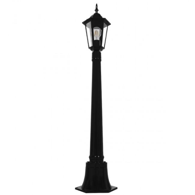 Vintage Industrial Φωτιστικό Δαπέδου Μονόφωτο Μαύρο Μεταλλικό Πλέγμα GloboStar ELLIPSE 01401 - 3